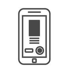 Mobile advertisement isolated icon vector