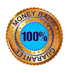 Money back guarantee golden label vector