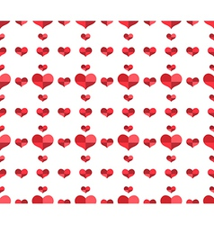 Seamless pattern with repeating hearts vector image vector image