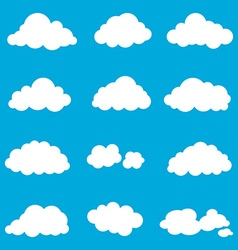 set cloud smoke element decor isolated for game vector image vector image