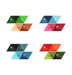 Set of triangle geometric infographic vector