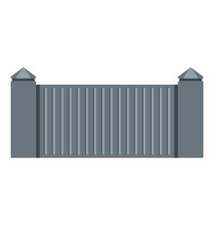 Stone fence icon isolated vector