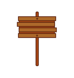 wooden sign post blank brown symbol vector image