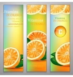 Vitamins in orange vector