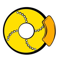 Disc brakes icon cartoon vector