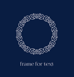 Frame for text vector