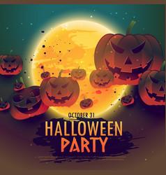 Spooky halloween celebration background vector