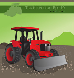 Agricultural tractor transport for farm vector