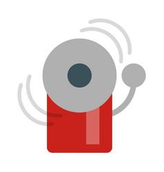 Fire warning alarm vector