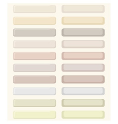 Set of pastel buttons vector