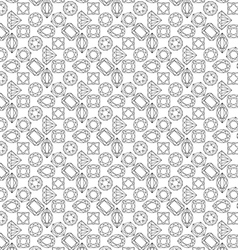 pattern of circuit cut gems vector image