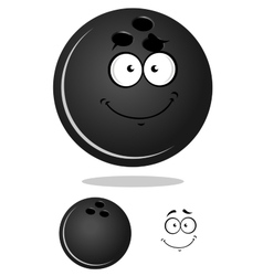 Dark gray cartoon bowling ball vector