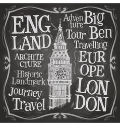 Big ben logo design template london uk or vector