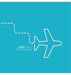 Icon airplane vector image