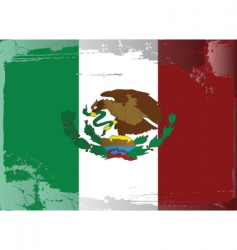 Mexico national flag vector