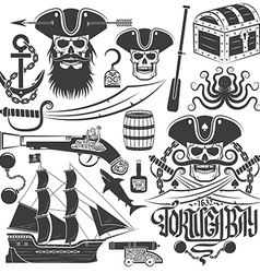 Pirate logo or tattoo vector