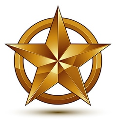 Sophisticated golden star emblem 3d decorative vector