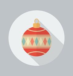 Christmas Ball Flat Icon vector image