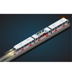 flat 3d isometric of a subway vector image