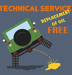 Car repair technical service shop garage vector