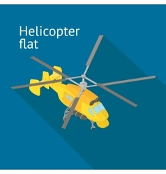 Flat isometric helicopter vector