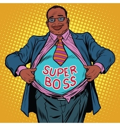African american businessman super boss vector