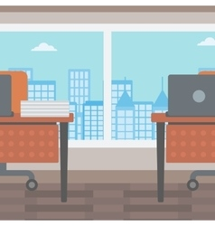 Background of office with city view vector