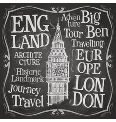 Big Ben logo design template London UK or vector image vector image