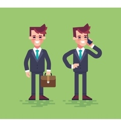 Business characters set flat vector