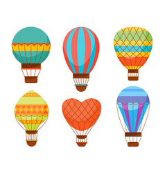 Cartoon air baloons set vector