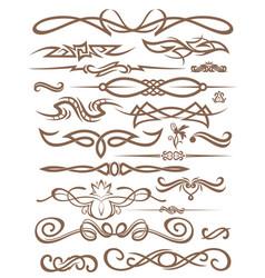 decorative vignettes vector image