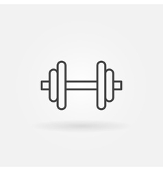 Dumbbell logo vector