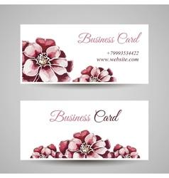 FlowerBusinessCard2 vector image