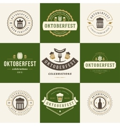 Labels badges and logos set beer festival vector