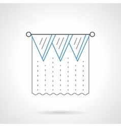 Lambrequin flat blue line icon vector image