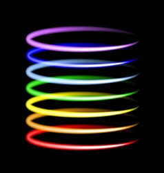 Neon rainbow light effects vector image