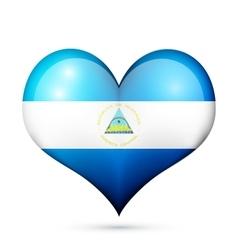 Nicaragua Heart flag icon vector image vector image