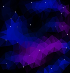 Night sky with stars polygonal vector
