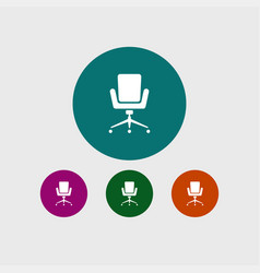 office chair icon simple vector image