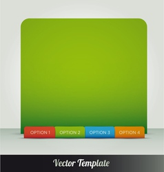 options page template vector image