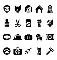Pets icons vet clinic icons and veterinary vector image vector image