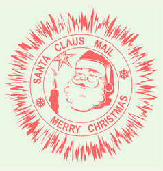 print sign with the silhouette of santa claus vector image vector image