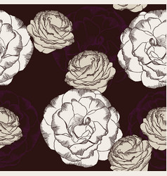 purple and white rose flower set vector image