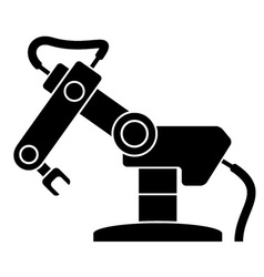 Robotic arm black symbol vector