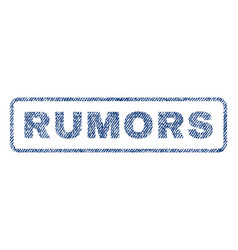 Rumors textile stamp vector
