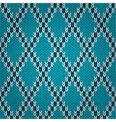 Seamless knitted pattern style knit woolen vector