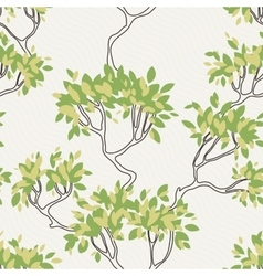 seamless pattern of tree branches with vector image vector image