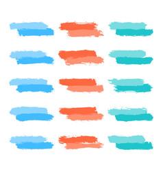Set tint brushstroke paint vector