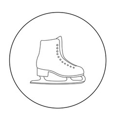 Skates icon outline single sport icon from the vector