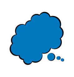 Speech bubble cloud chating comic vector